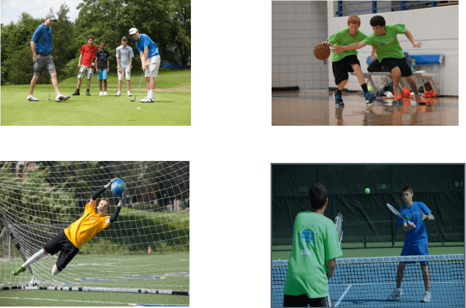 Outdoor activities in English camp in Massachusetts