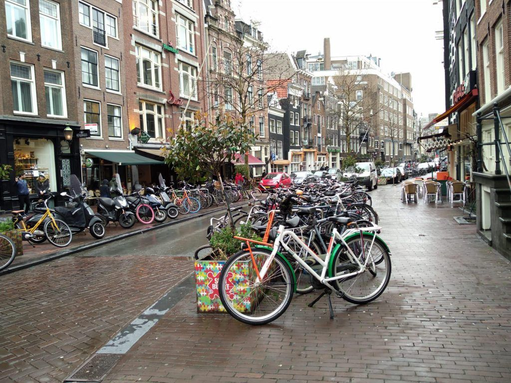 Bicycle parking in Amsterdam with eeagency