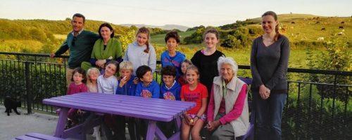 Posando con la familia irlandesa