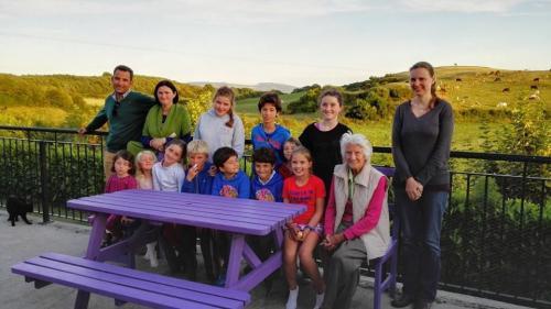 Con la familia irlandesa