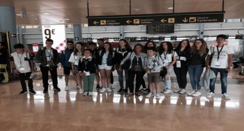 En el aeropuesto a la salida de España