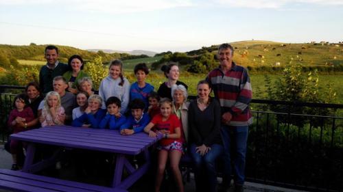 En el campo con una familia irlandesa
